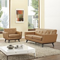 Engage Tan 2 Piece Leather Living Room Set from Renegade ...