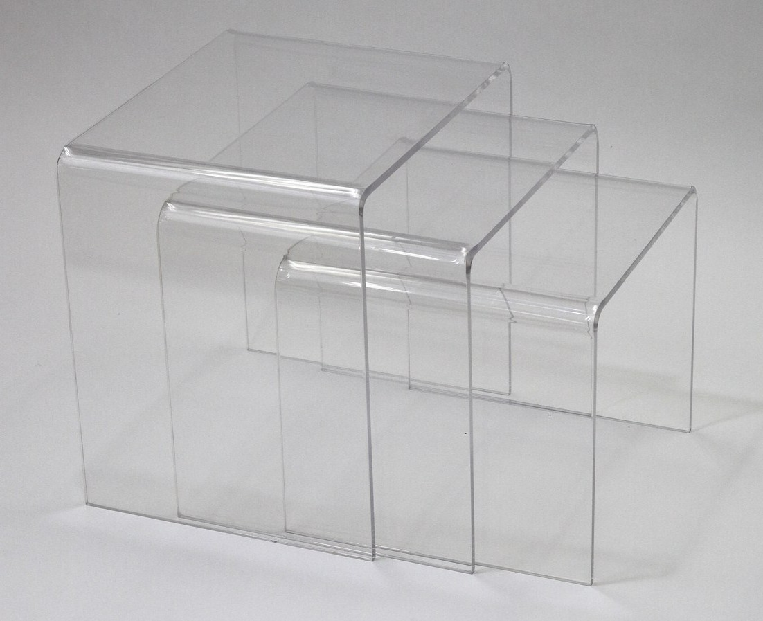 Casper Clear Nesting Table 3 Piece Set From Renegade (EEI