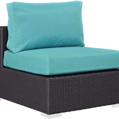 Turquoise Patio Chairs Costco Dining Chair Covers Convene Espresso Outdoor Armless