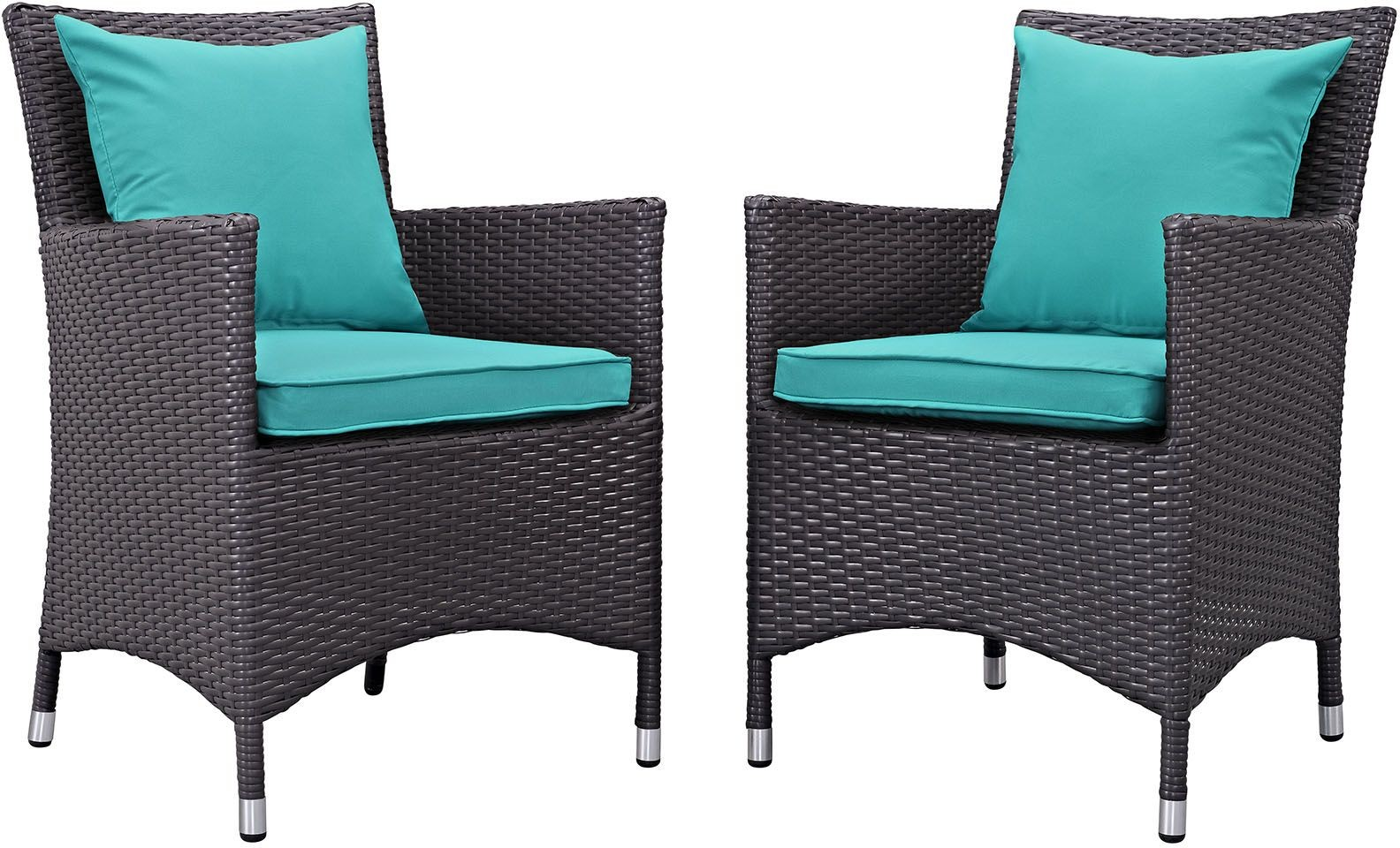 turquoise patio chairs folding table with chair storage inside convene espresso 2 piece outdoor dining