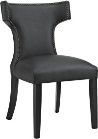 Curve Black Vinyl Dining Chair from Renegade | Coleman ...