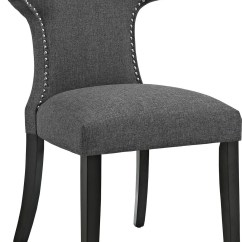 Grey Upholstered Chair School Bus Table And Curve Gray Dining Eei 2221 Gry