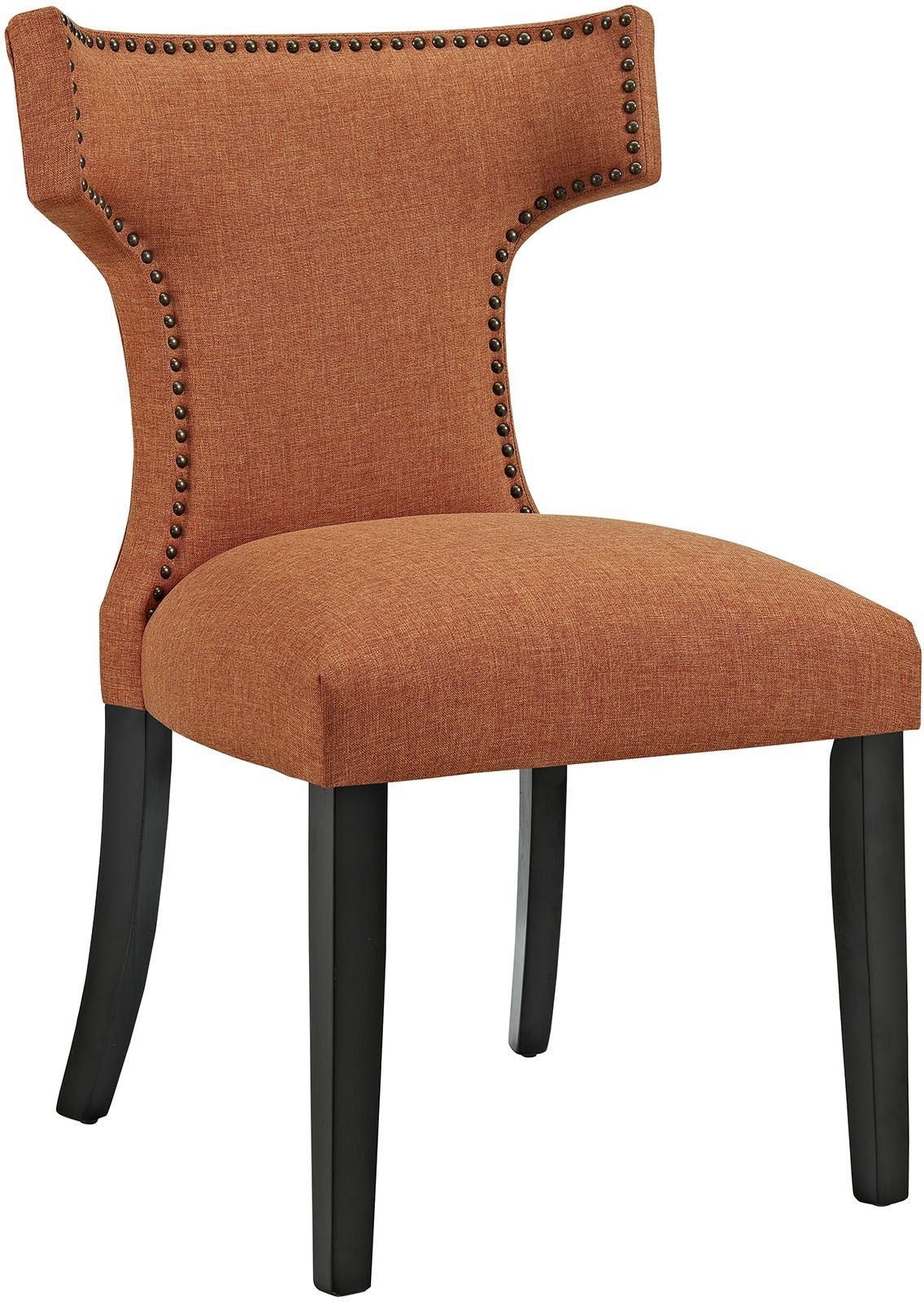 orange upholstered chair stool for standing desk curve dining from renegade