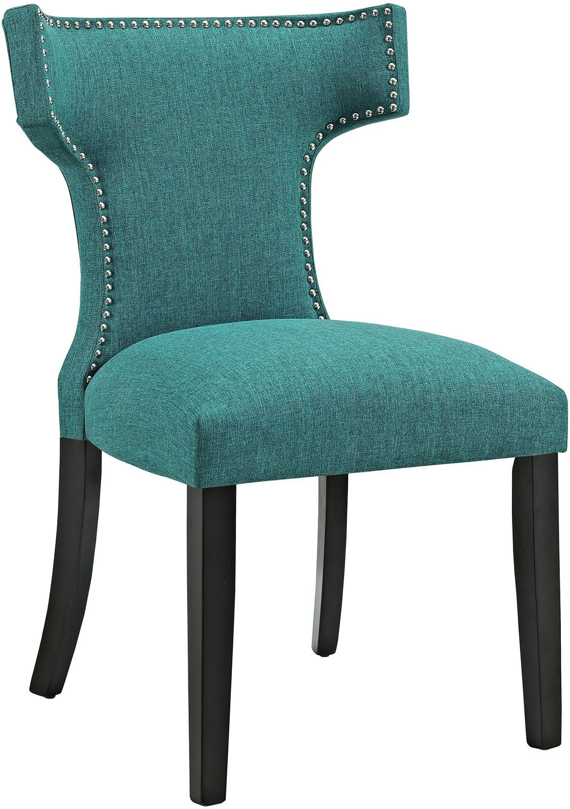 teal dining chairs chair massager with heat curve upholstered eei 2221 tea