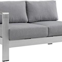 Black Aluminum Outdoor Sofa Foldable Set Shore Silver Gray Laf Corner Sectional