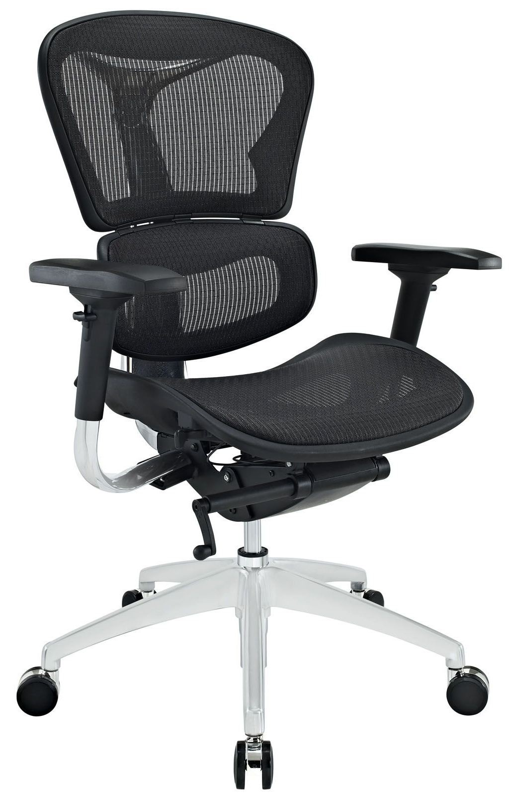 coleman lumbar quattro chair conference room table and chairs lift mid back black office from renegade eei 233