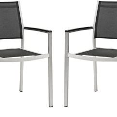 Black Metal Patio Chairs Charles Eames Chair Shore Silver Aluminum Outdoor Dining Set