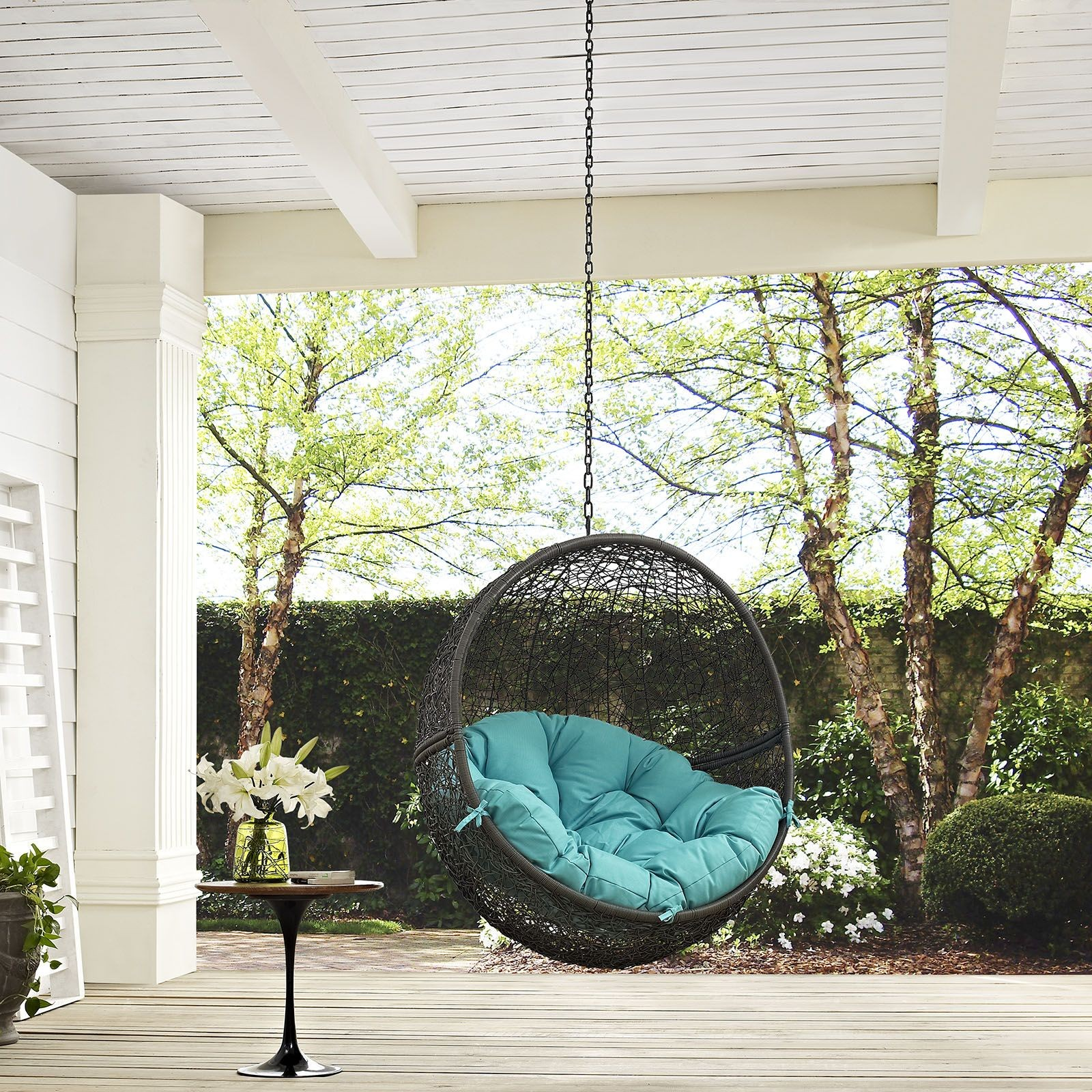 turquoise patio chairs john vogel chair hide gray outdoor swing without