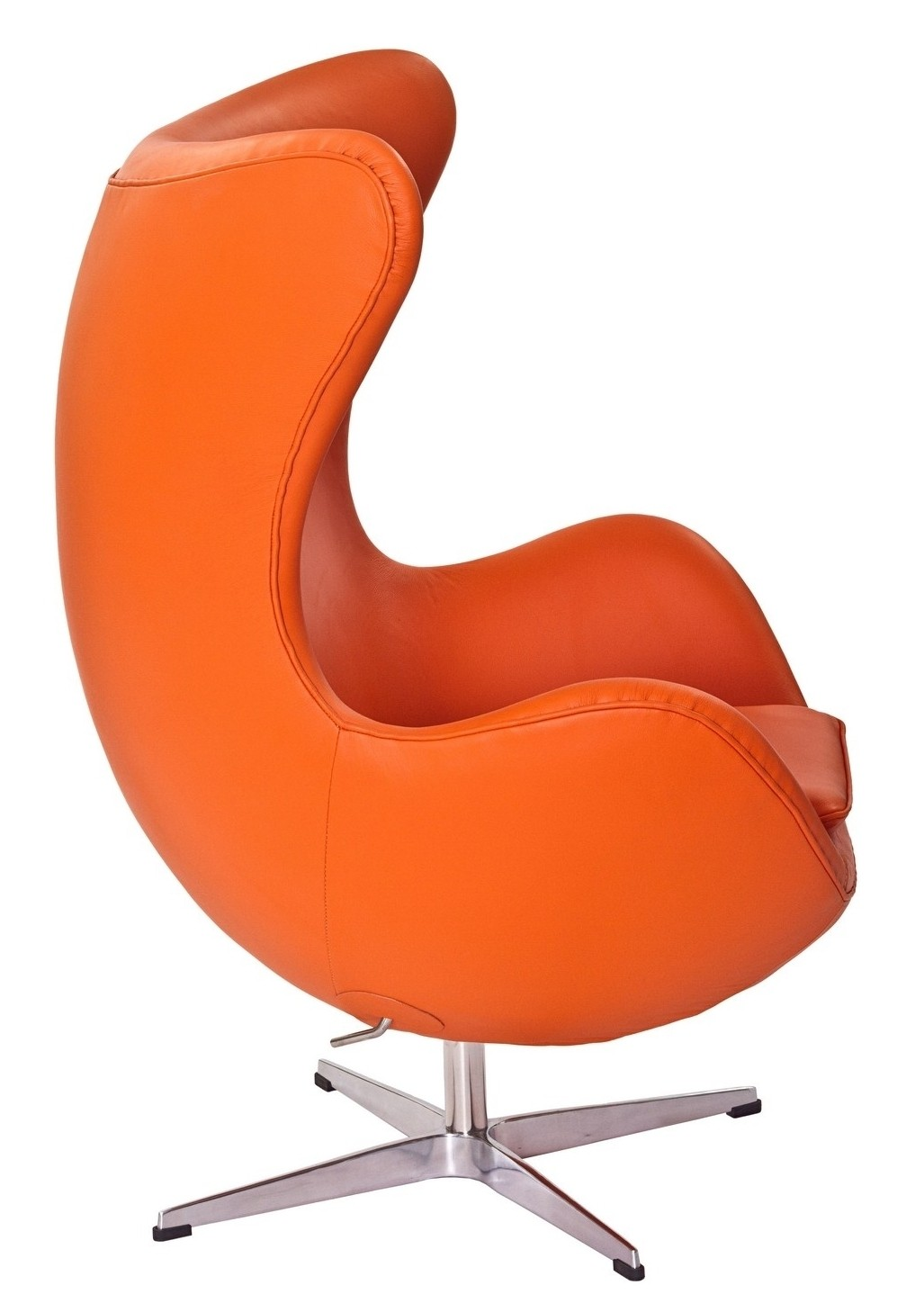 Glove Chair in Orange Aniline Leather from Renegade EEI
