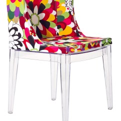 Clear Acrylic Chair Patio Table And Chairs Flower Design Accent With Base From