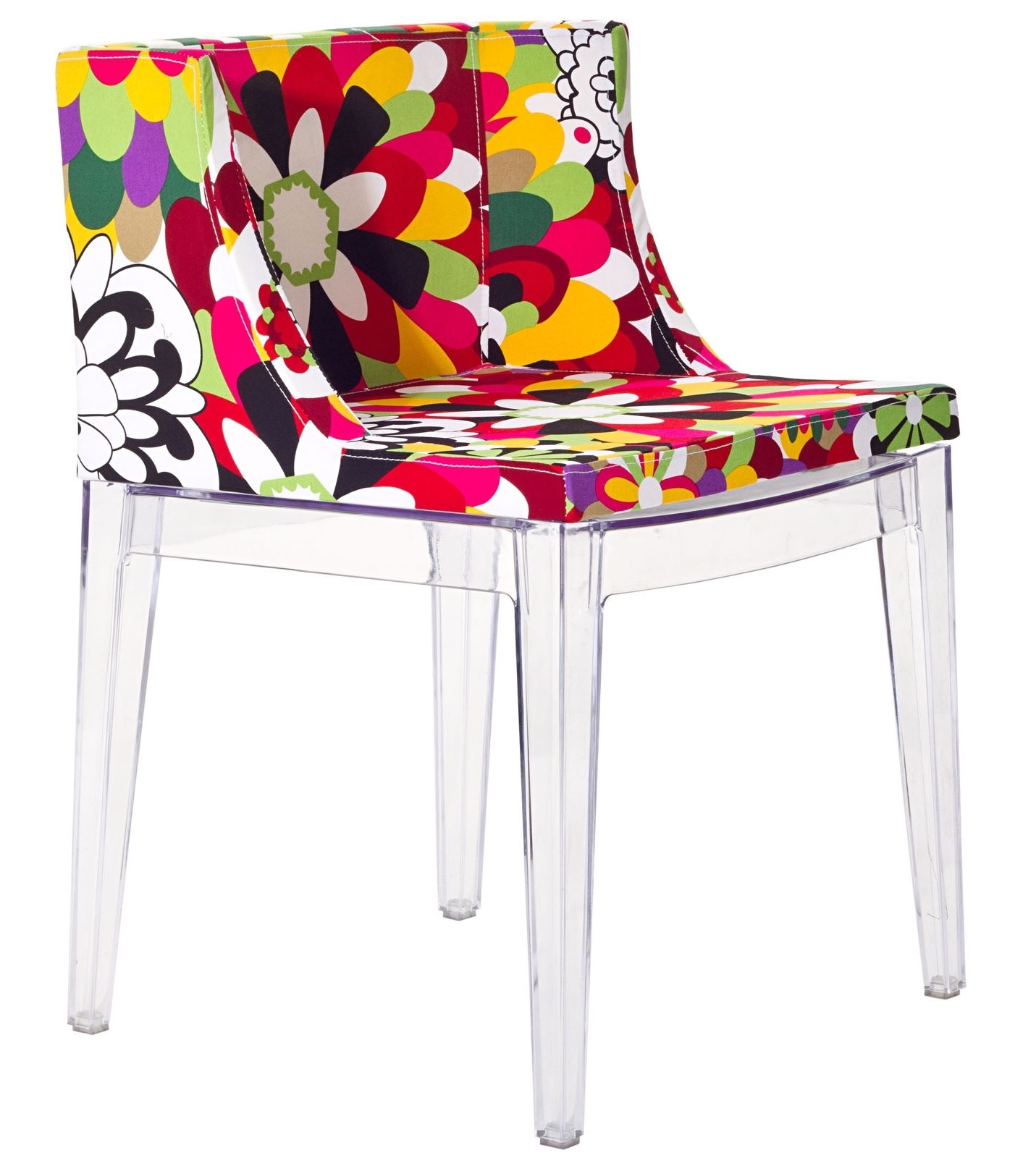 Acrylic Chair Flower Design Accent Chair With Clear Acrylic Base From