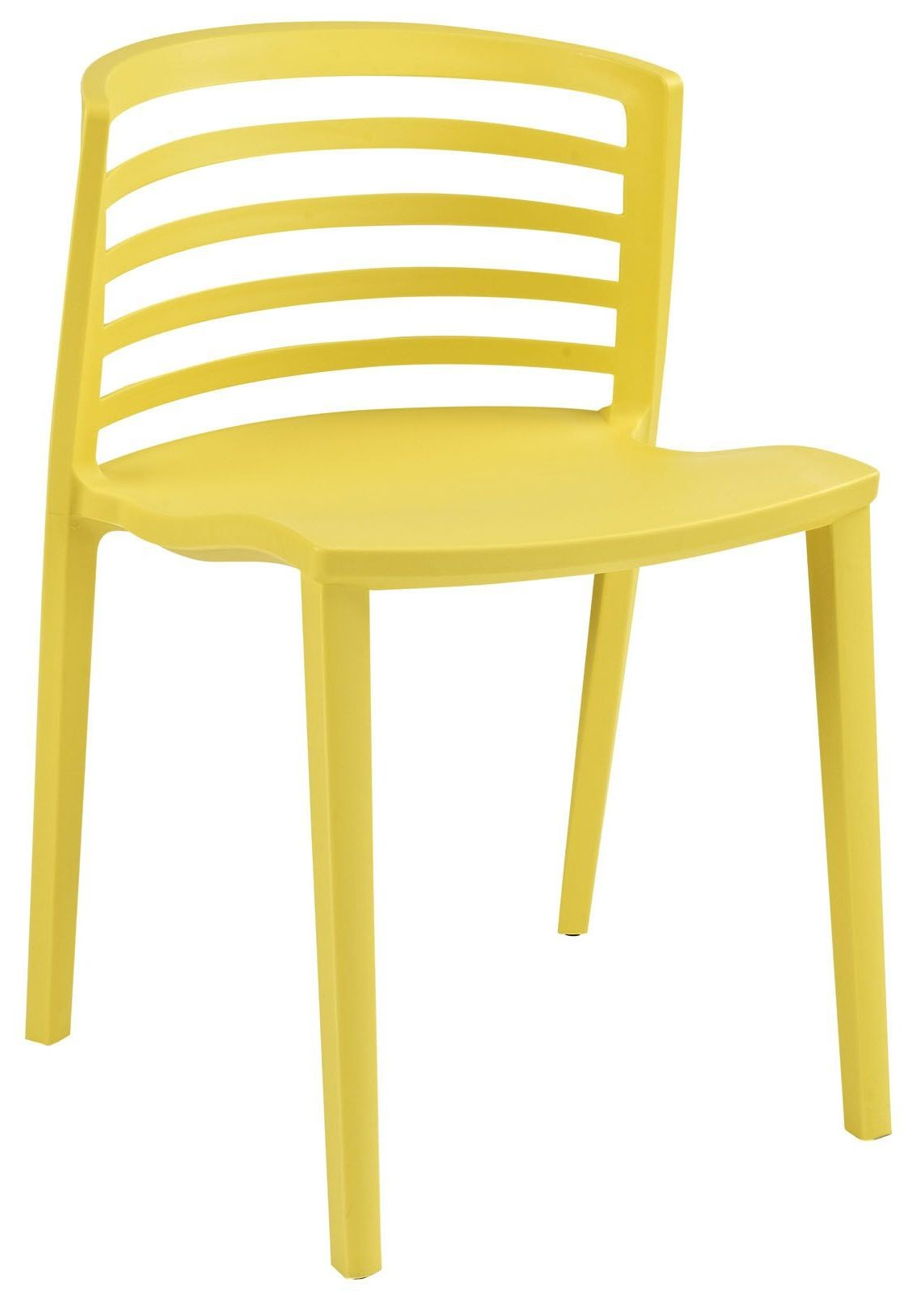 Yellow Side Chair Curvy Yellow Dining Side Chair From Renegade Eei 557