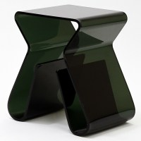 Acrylic Stool with Magazine Holder in Black from Renegade ...
