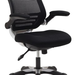 Black Mesh Office Chair White Table And Chairs Set Uk Edge With Fabric Seat From
