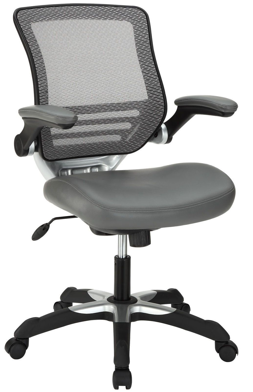 office chair vinyl formal sitting room chairs edge gray from renegade eei 595