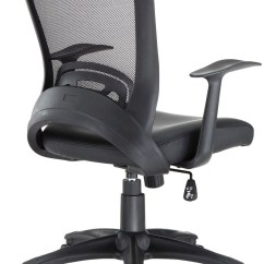 Office Chair Vinyl Bamboo Outdoor Chairs Pulse Black From Renegade Eei 756
