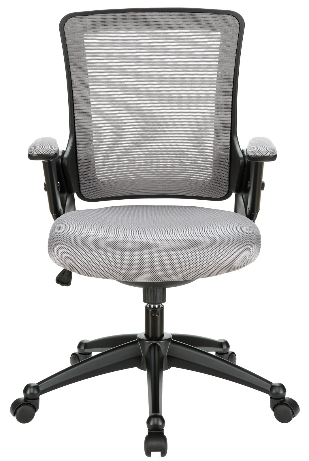 padded office chair legs for sale view with mesh back and gray seat from