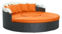 Quest Orange Canopy Outdoor Patio Daybed from Renegade ...