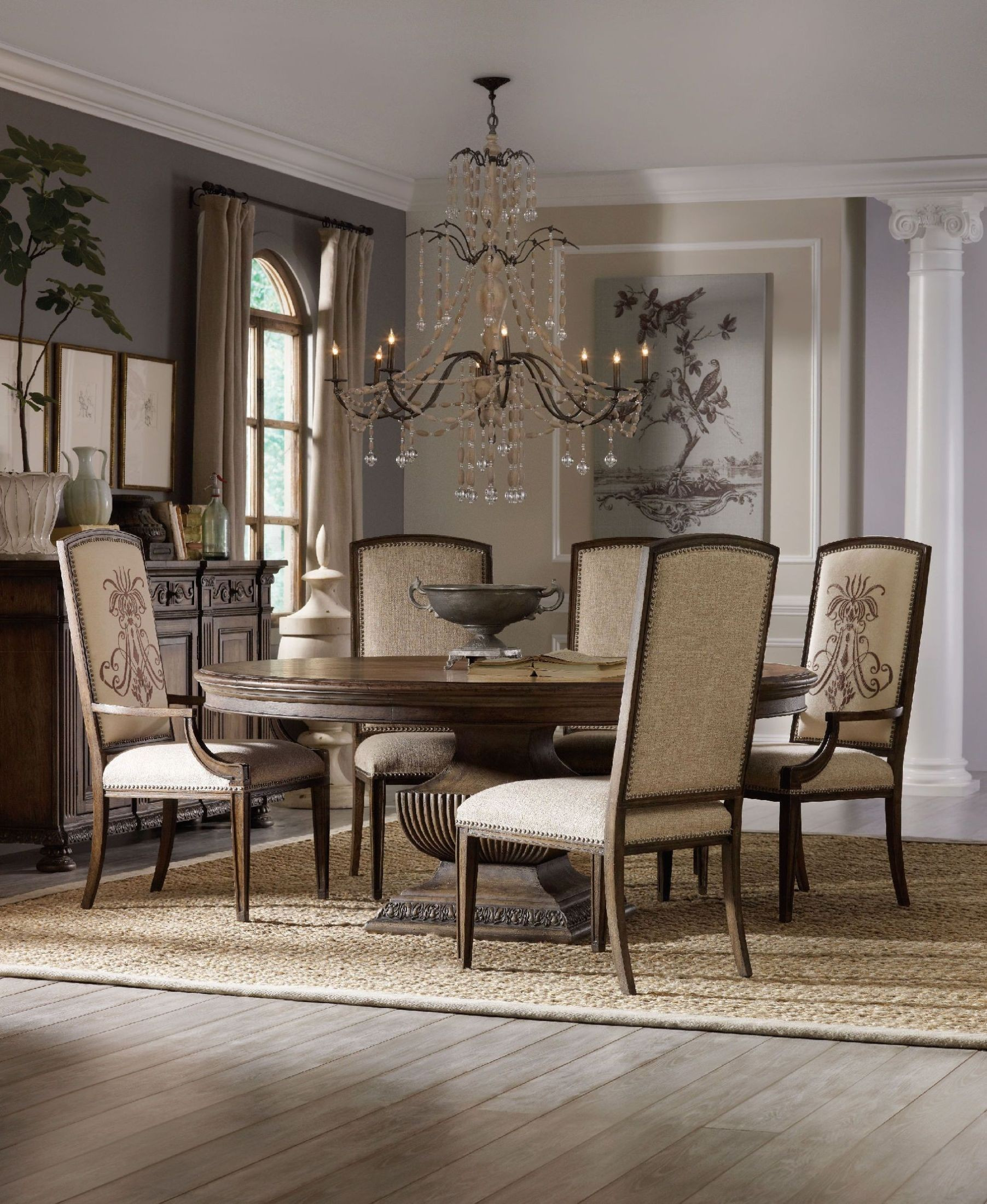 Rhapsody Brown 60 Round Dining Room Set from Hooker  Coleman Furniture