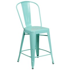Green High Chair Home Depot Chairs 24inch Mint Indoor Outdoor Counter From
