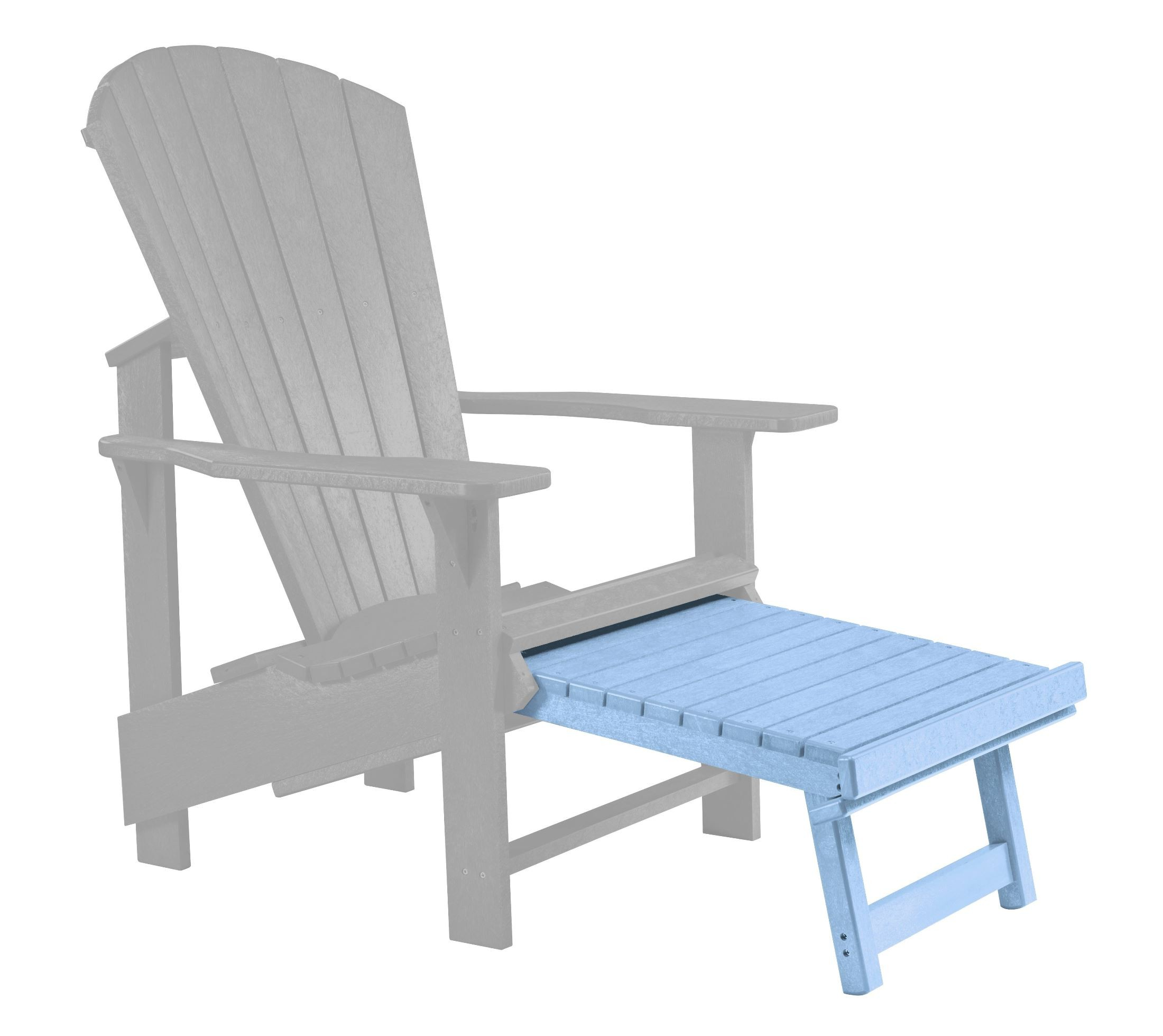 Blue Adirondack Chair Generations Sky Blue Upright Adirondack Chair Pull Out
