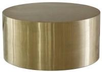 Cordova Bronze Bronze Metal Drum Coffee Table, WH-F1553 ...