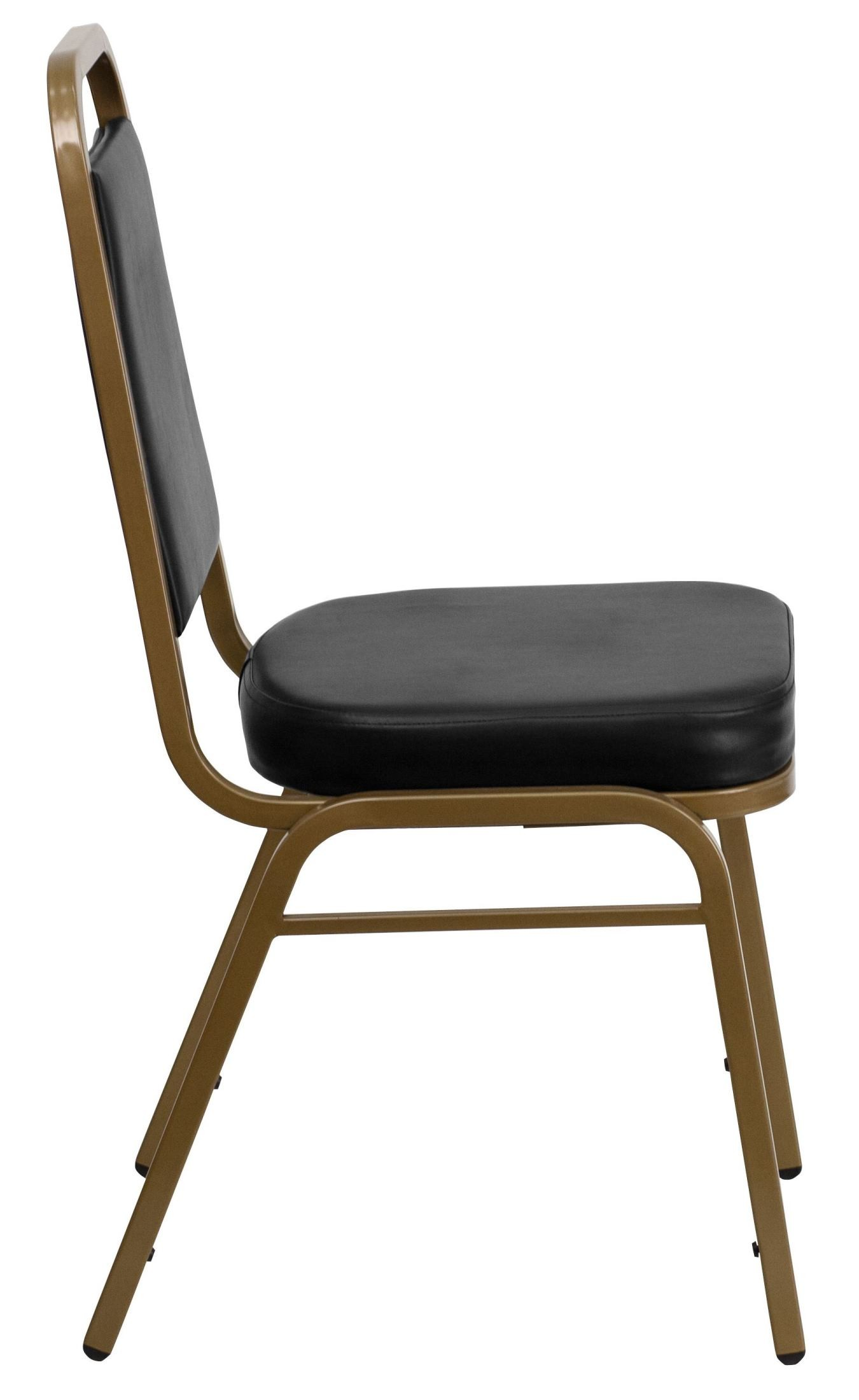 Hercules Stacking Chairs Hercules Series Trapezoidal Back Stacking Black Vinyl