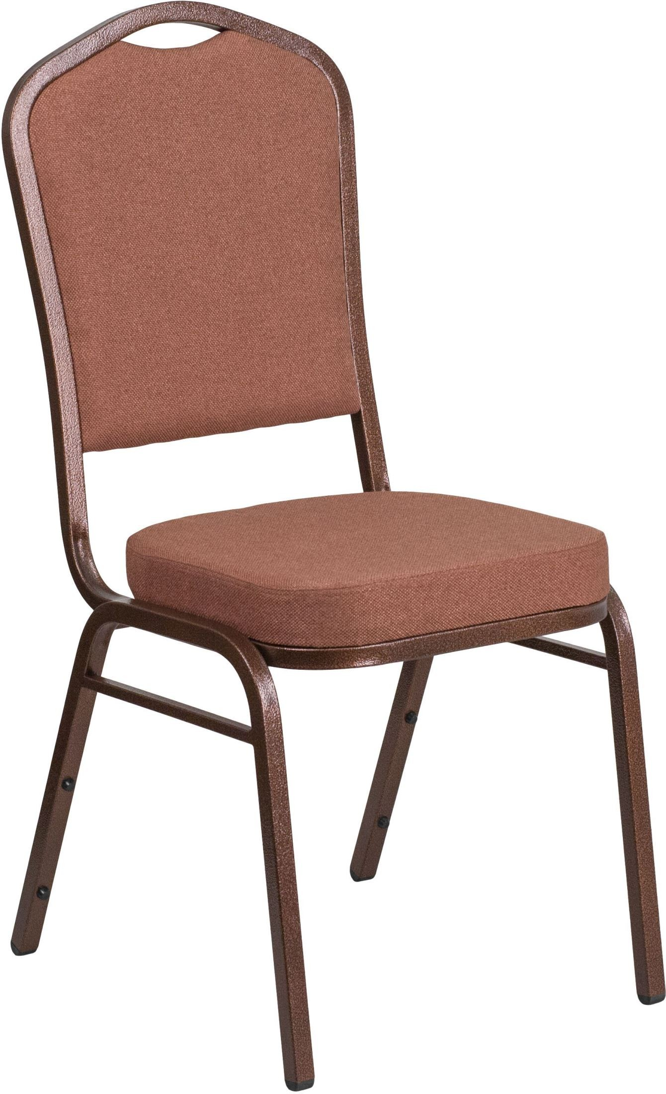 Hercules Stacking Chairs 31716 Hercules Series Crown Back Brown Fabric Stacking