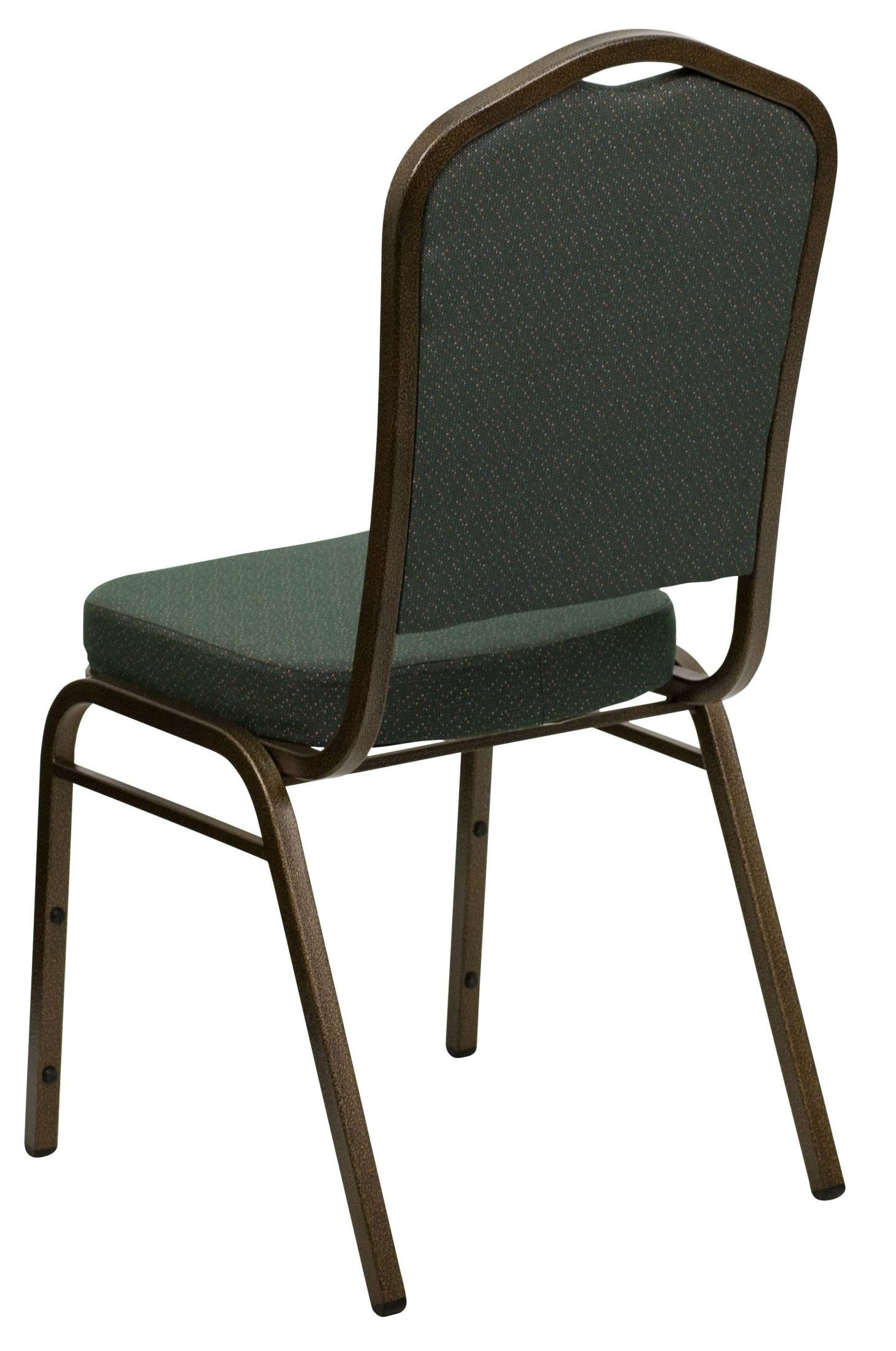 Hercules Stacking Chairs Hercules Series Crown Back Stacking Green Pattern Fabric