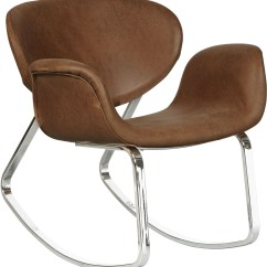 Coleman Rocking Chair Small Patio Table 2 Chairs Brown Upholstered Metal Back From Pulaski