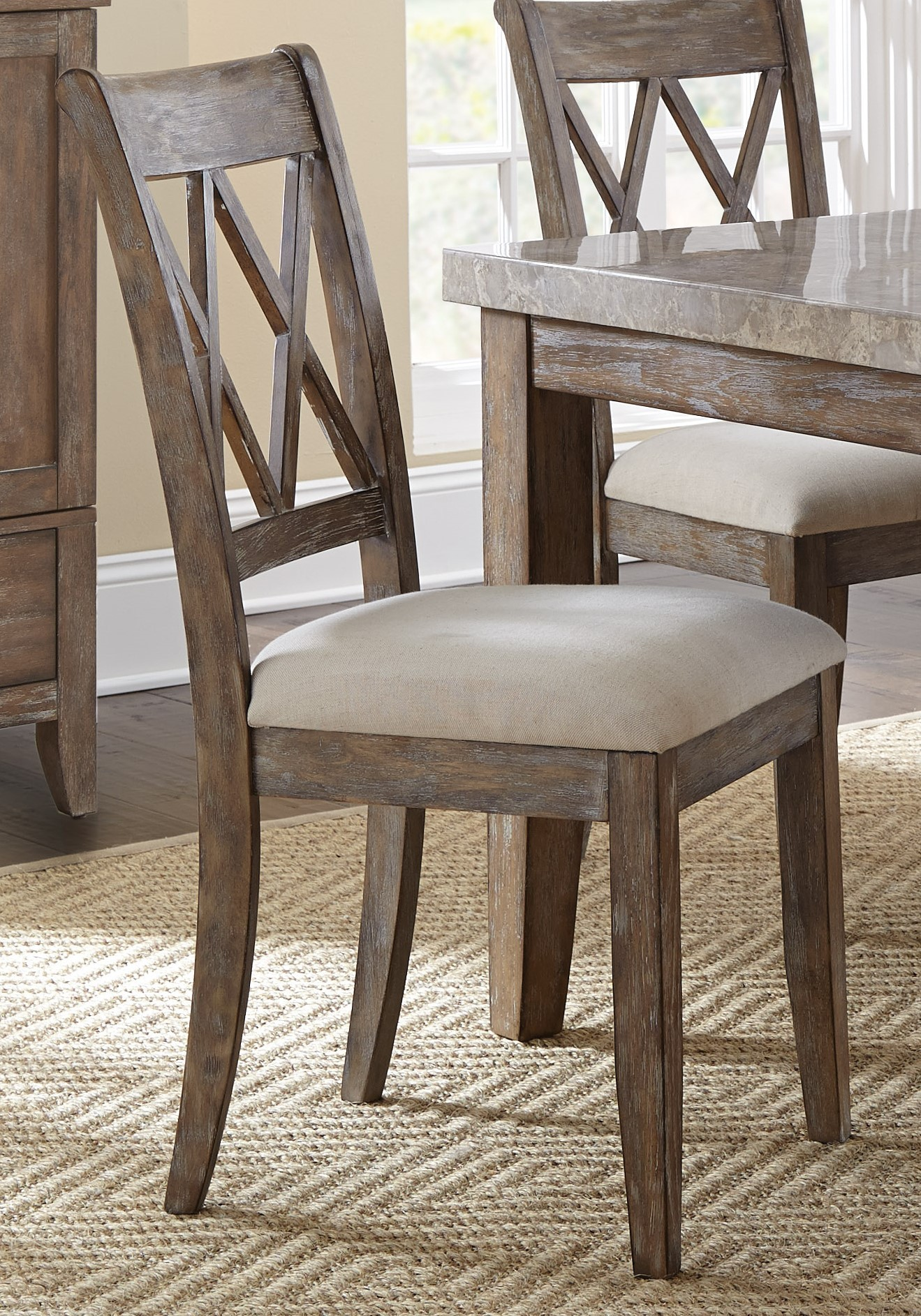 Distressed White Dining Chairs Franco Distressed Wash Dining Chair Set Of 2 From Steve