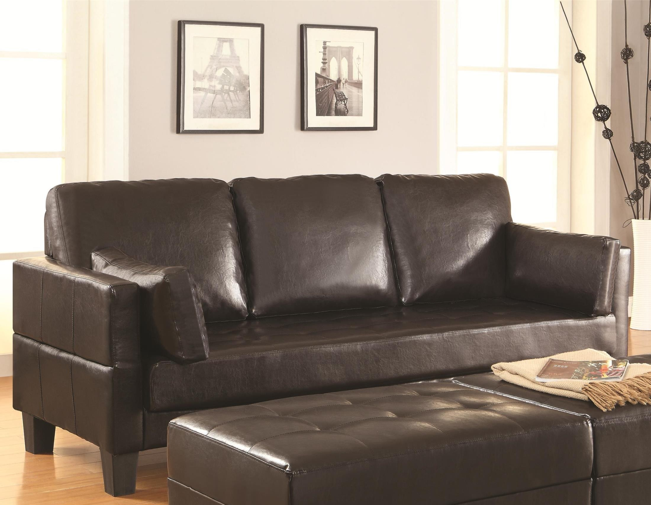coaster futon sofa bed with removable armrests review s shaped crossword puzzle clue ellesmere from 300204 coleman furniture