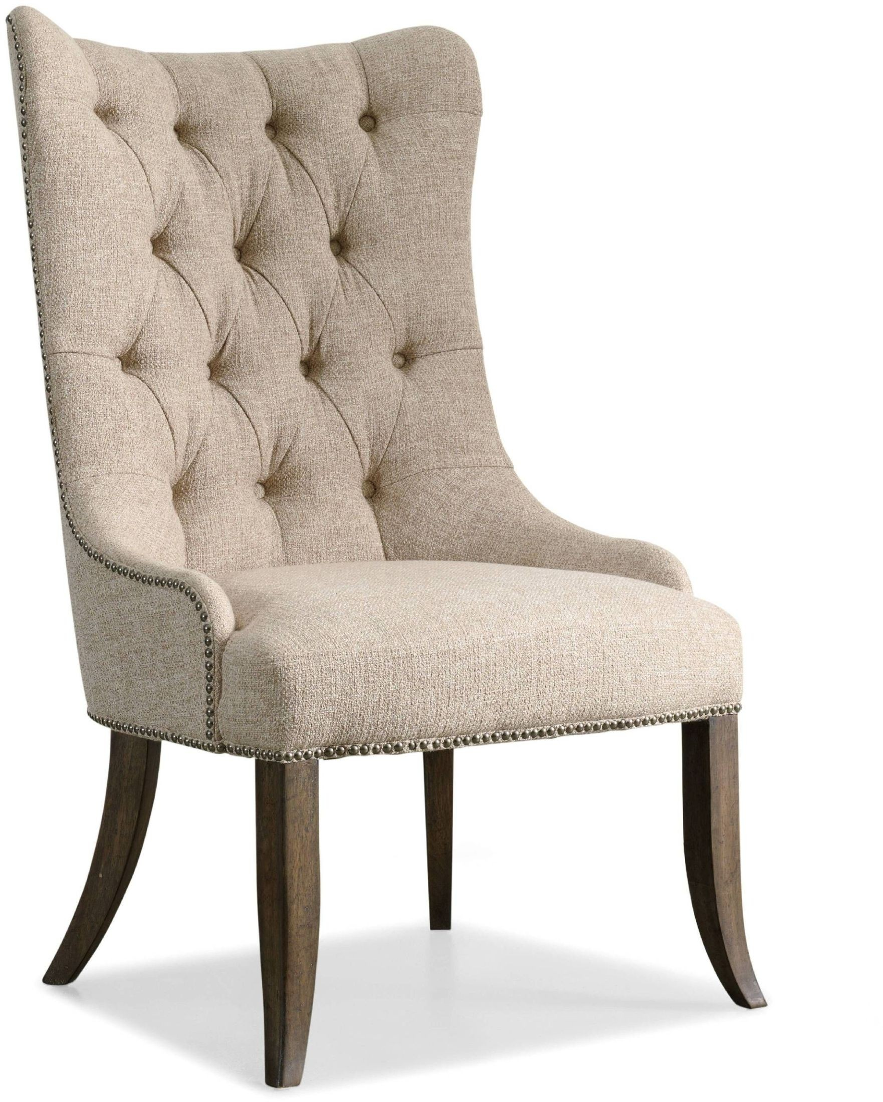 beige dining chairs high back uk rhapsody tufted chair set of 2 from hooker