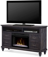 Solomon Weathered Gray Media Console with Acrylic Ice ...