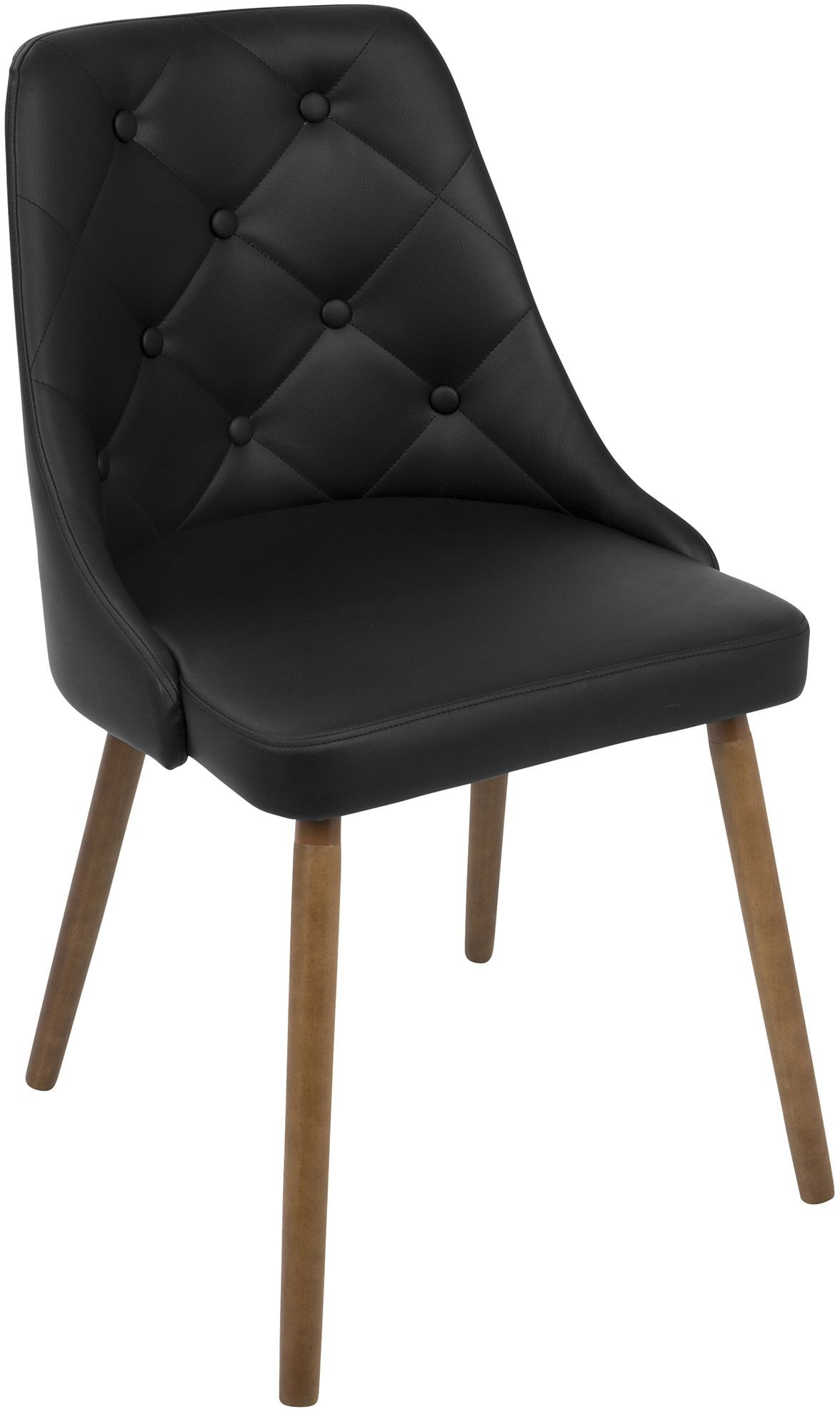 Leather Chairs Target Gianna Walnut And Black Dining Chair From Lumisource