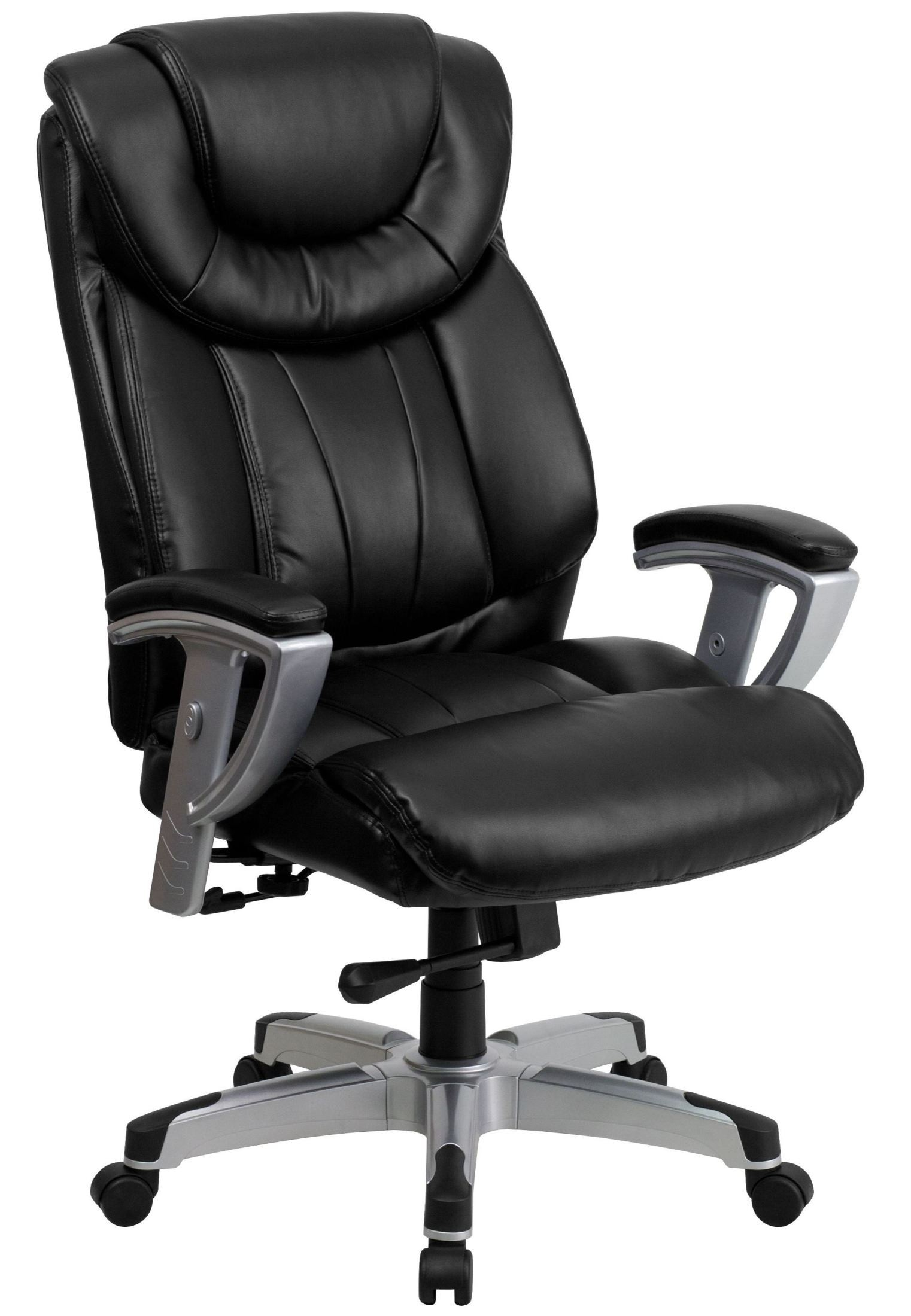 Tall Office Chair 1534 Hercules Series Big And Tall Black Leather Arm Office