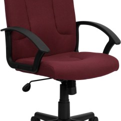 Computer Chair With Arms Modern Outdoor Dining Burgundy Task And Nylon Min
