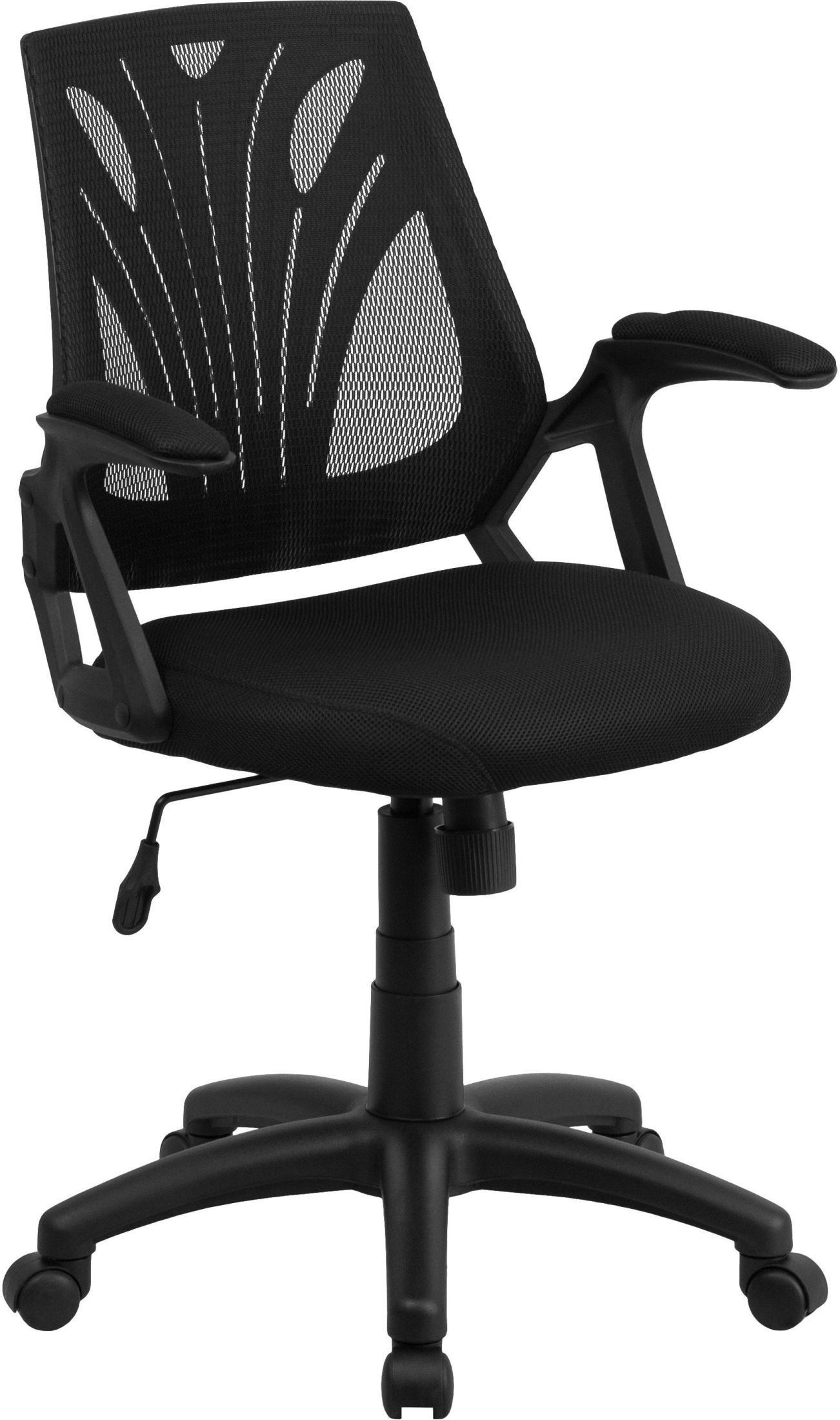 swivel chair keeps turning cheap banquet covers wholesale mid back black mesh padded seat task go wy