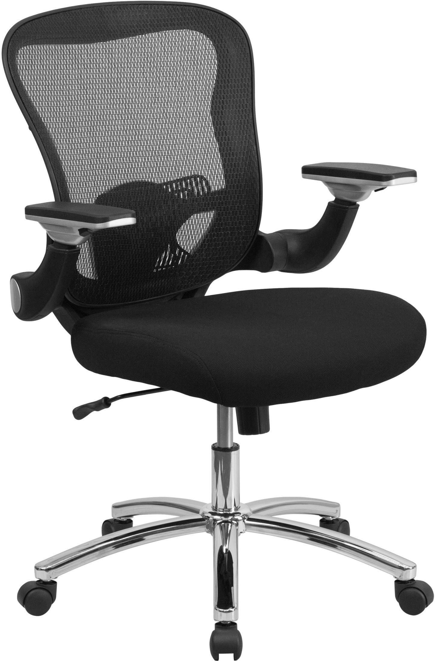 coleman lumbar quattro chair colourful office chairs mid back black executive padded seat swivel