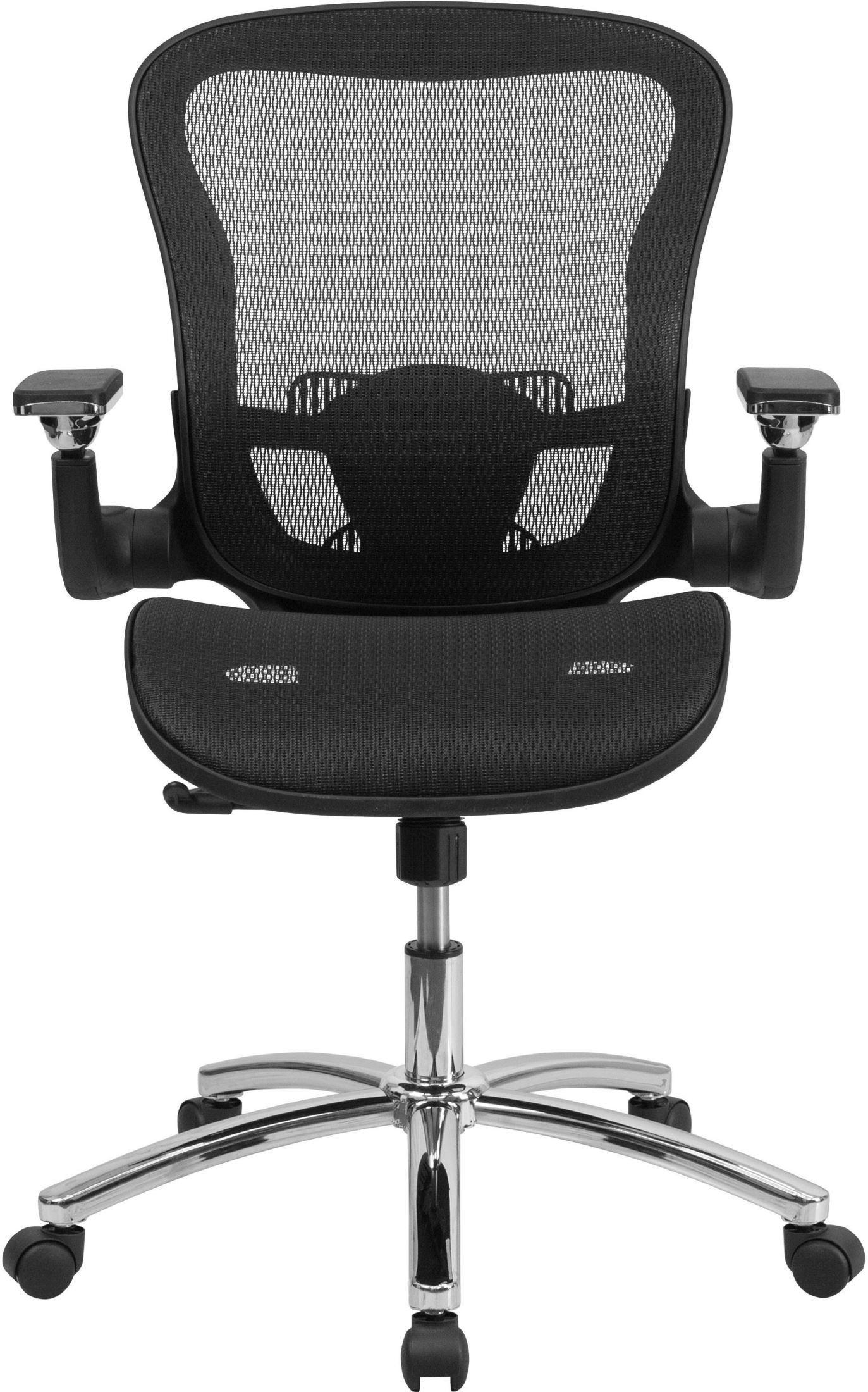 black mesh office chair desk mat depot mid back executive swivel go wy