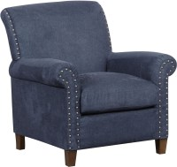 Denim Vintage Traditional Roll Arm Accent Chair from ...