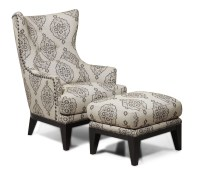 Charleston Antique Espresso Accent Chair & Ottoman from ...