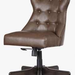 Home Office Chair Metal Accent Brown Swivel Desk From Ashley Coleman