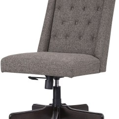 Swivel Chair For Home Office Dark Brown Accent Graphite Desk From Ashley