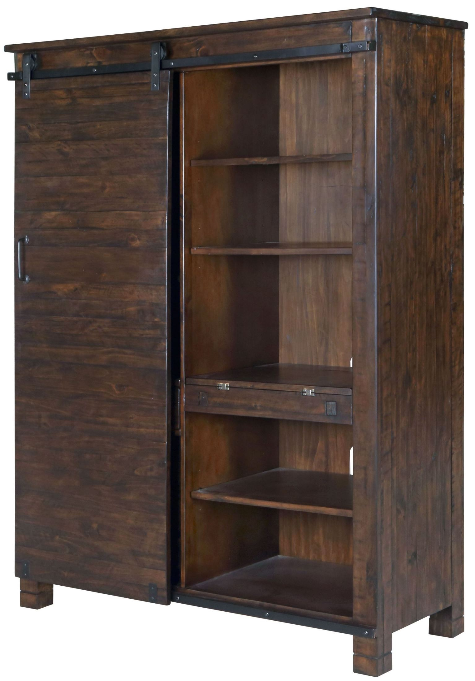 Pine Hill Rustic Pine Door Bookcase From Magnussen Home