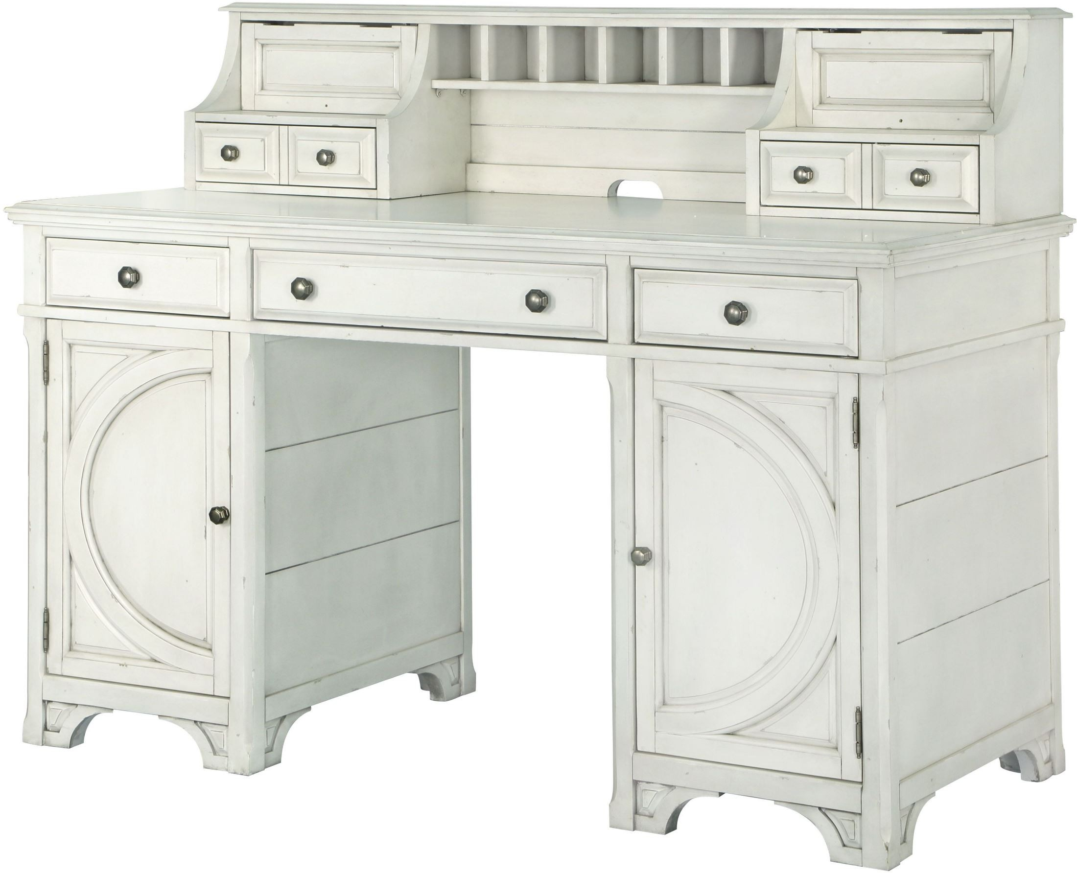 Hancock Park Vintage White Counter Height Desk H368106