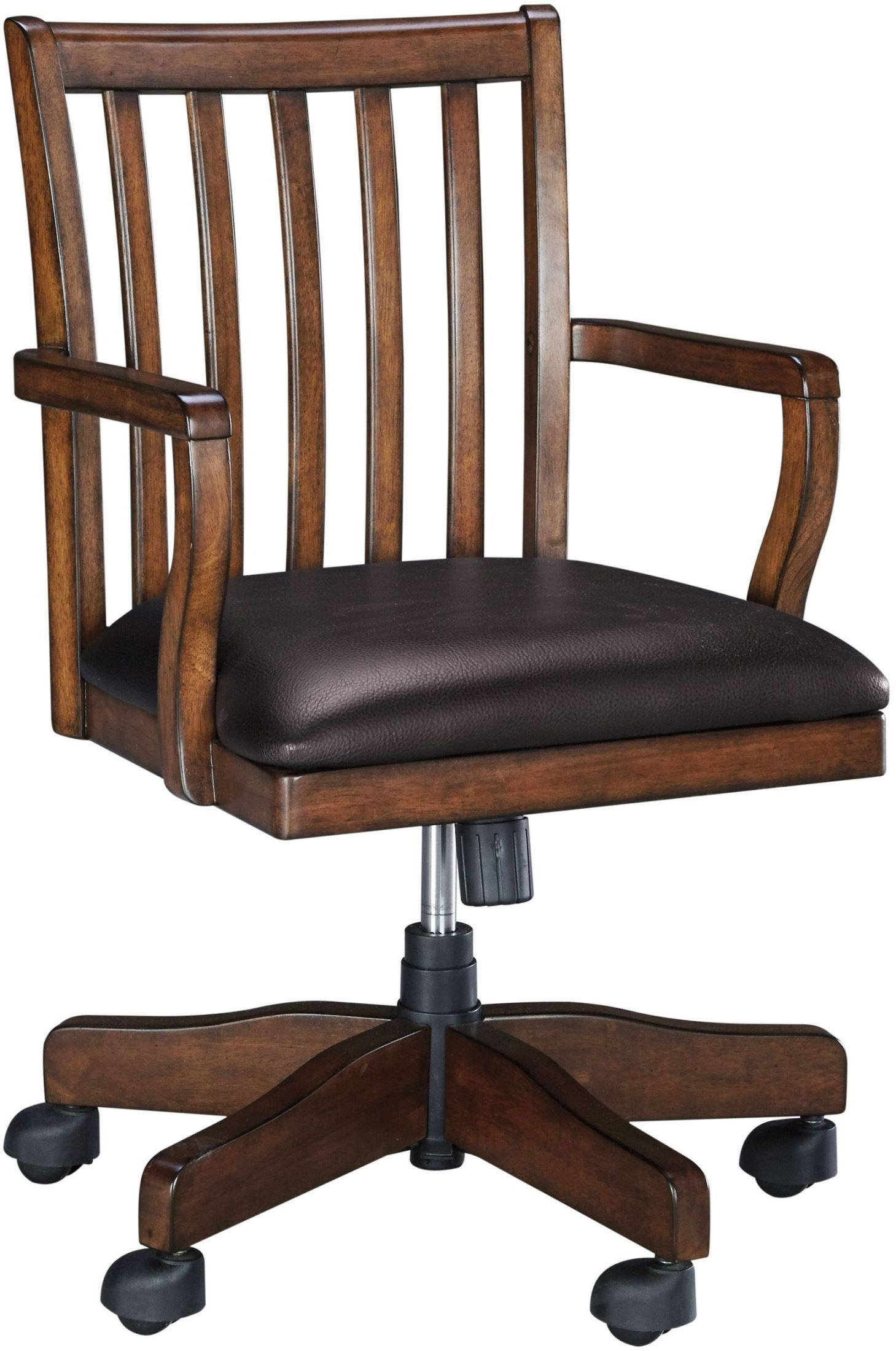 swivel chair for home office covers woodboro brown desk h478 01a ashley