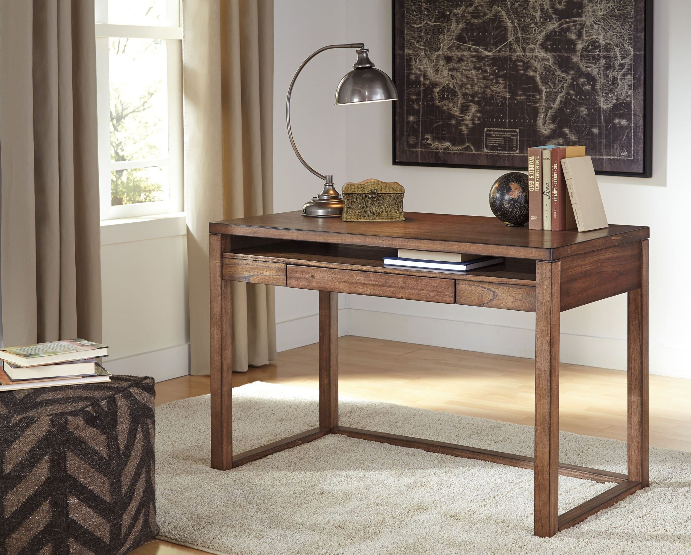Baybrin Rustic Brown Home Office Small Desk from Ashley