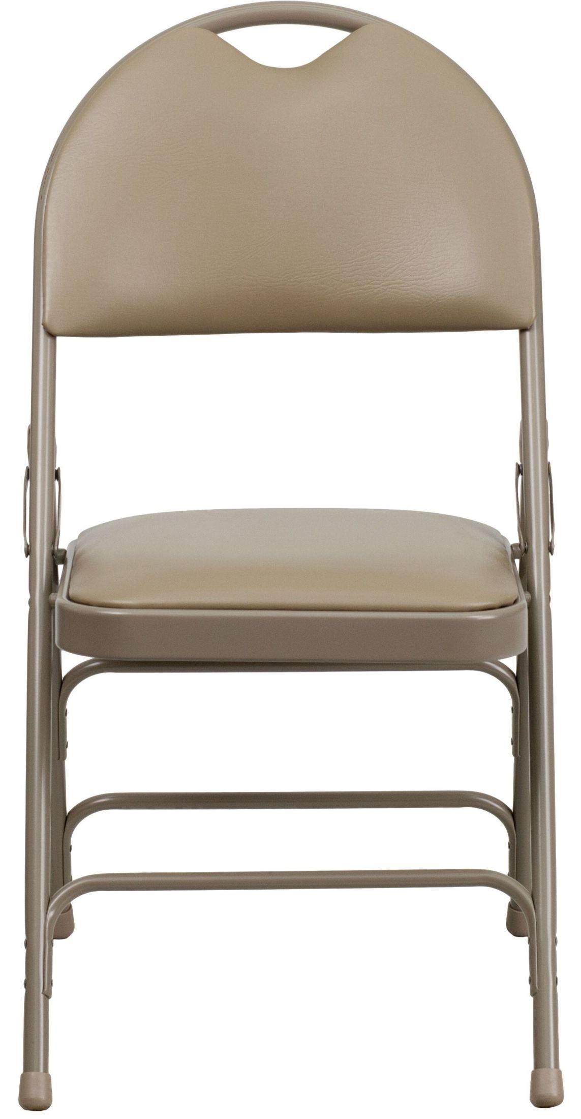 hercules folding chair for shower the elderly series ultra premium beige vinyl metal