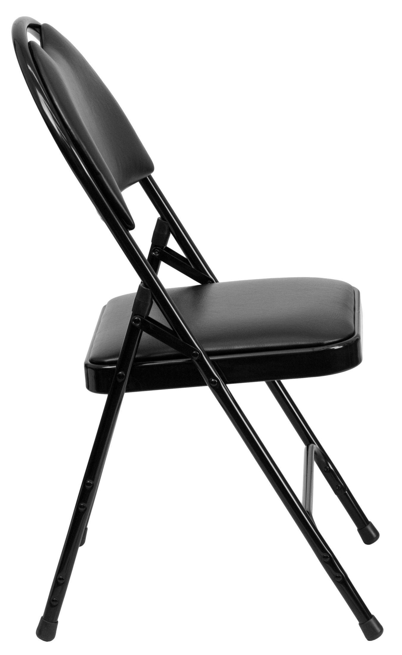 hercules folding chair white garden series ultra premium black vinyl metal
